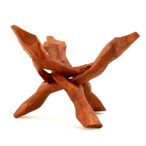 Kobra Dreifuss Untersetzer für Abalone Muschel