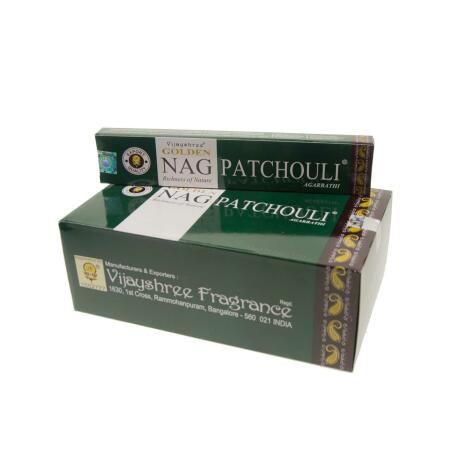GROSSPACKUNG Vijashree GOLDEN NAG PATCHOULI - 12 x 15 g