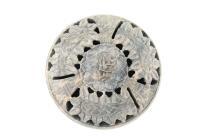 GRAU-ROSA Räucherschale + Räucherstäbchenhalter in einem aus Speckstein