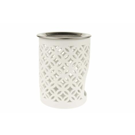 Räucherstövchen Keramik WEISS