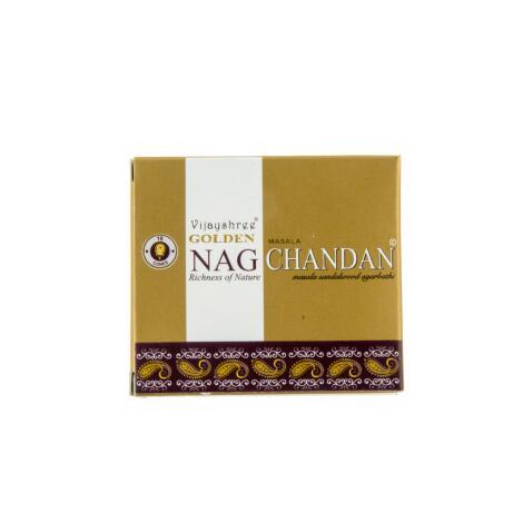 Golden NAG CHANDAN Räucherkegel Vijayshree