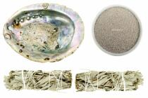 Weißer Salbei räuchern SET Set mit M-Abalone