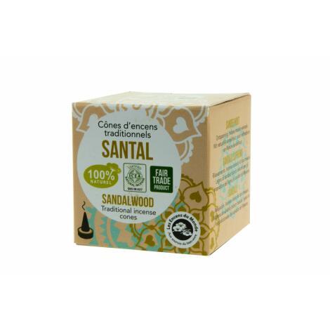 EDLES SANDELHOLZ - 100 % natürliche Räucherkegel Aromandise