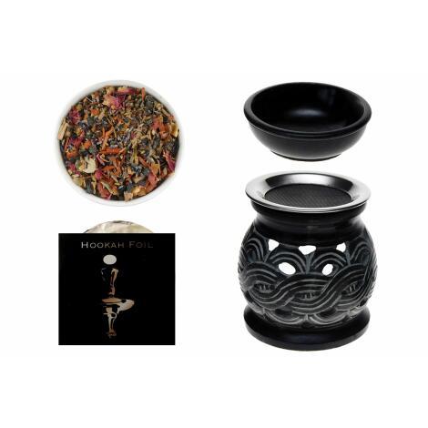 GRUNDAUSSTATTUNG - Räuchern mit RÄUCHERSTÖVCHEN Keltic + Aromaschale + Kyphi Räuchermischung 15 g