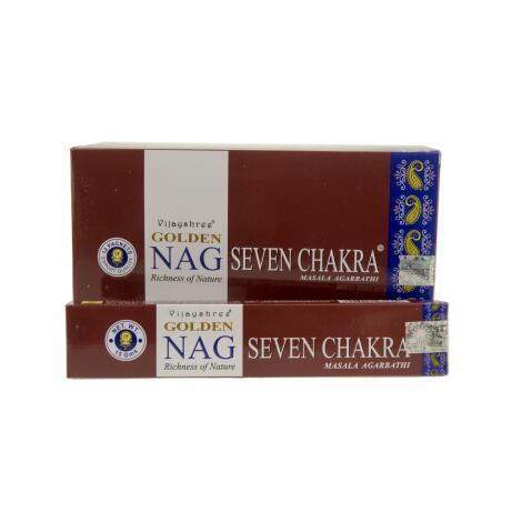 GROSSPACKUNG Vijashree GOLDEN NAG SEVEN CHAKRA - 12 x 15 g