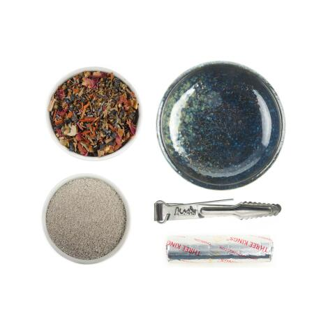 GRUNDAUSSTATTUNG - Räuchern mit Räucherschale + Zedernholz Aromaweihrauch 20 g