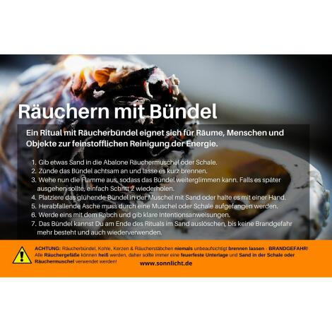 GRATIS Anleitung: Räuchern mit Bündel - automatische Gratisbeilage beim Kauf von Räucherbündel