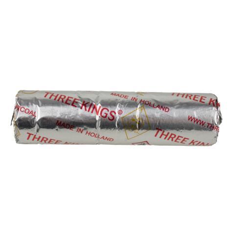 Räucherkohle 33 mm der Qualitätsfirma Three Kings - 10 Einzelkohlen